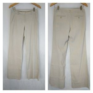 Theory ivory linen relaxed fit trousers sz 4